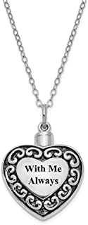 925 Sterling Silver Me Always Ash Holder 18 Inch Chain Necklace Pendant Charm Memorial Inspirational Fine Jewelry For Women
