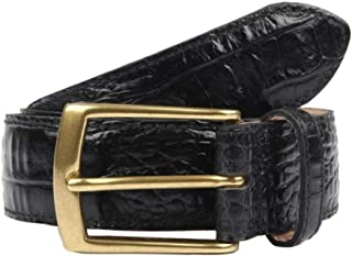 Dents Men's Heritage Crocodile Print Leather Belt