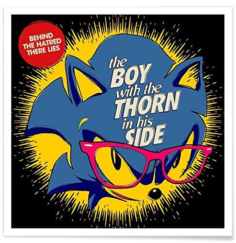Juniqe® Affiche 50x50cm Pop Art - Design The Boy (Format : Carré) - Poster, Tirages d'art & Tableaux par des Artistes indépendants créé par Butcher Billy
