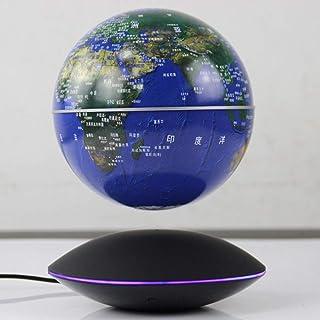 Geografisk glob, världglob med stativ/flytande jordglob/magnetiska levitationglober/6 tums färgglada LED-lampor/barn utbil...