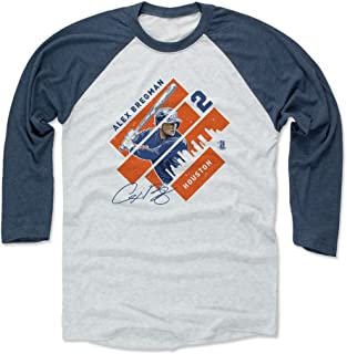 500 LEVEL Alex Bregman Shirt - Houston Baseball Raglan Tee - Alex Bregman Stripes