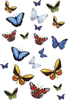 Kleine Wolke 1907148837 Static Deco Elements Butterfly Film Electrostatique pour Salle de Bain/WC PVC Multicolore 35 x 24 cm