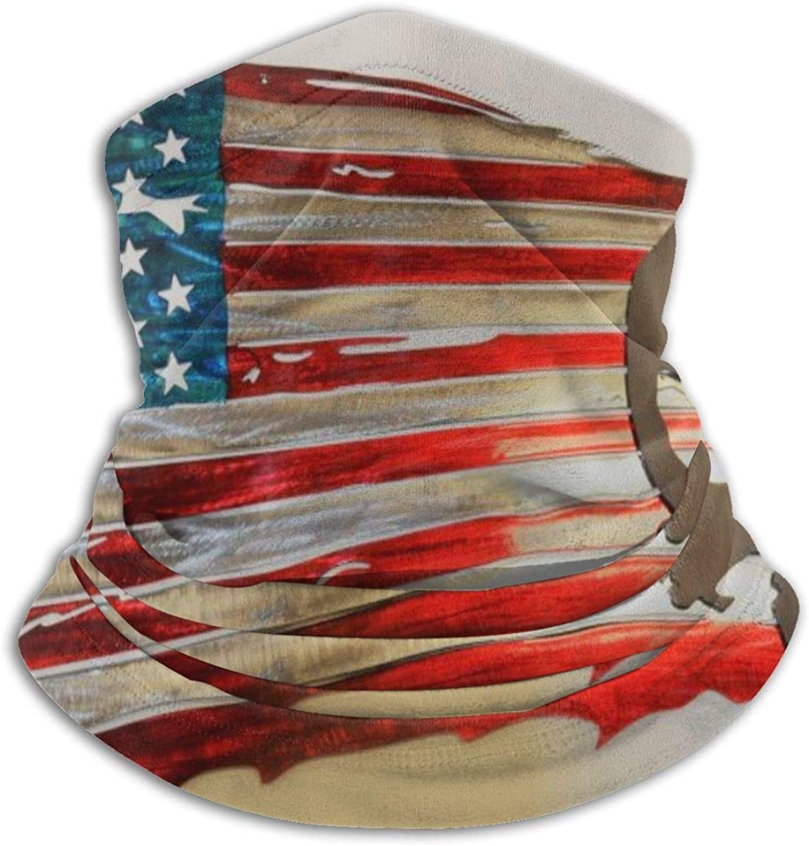 American Flag Punisher Fleece Neck Warmer Gaiter Soft Microfiber Headwear Face Scarf Mask for Winter Cold Weather & Keep Warm for Mens Womens