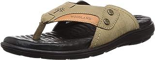 Woodland Men's Ogp 3348119_Khaki Leather Slippers-8 UK (42 EU) (9 US) 3348119KHAKI