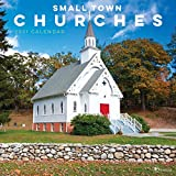 TF PUBLISHING 2021 Small Town Churches Monthly Wall Calendar - Appointment Tracker - Contacts/Notes - Home/Office Planning - Gloss 12'x12'
