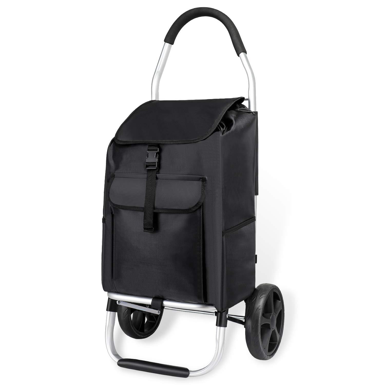 Strong 25KG 45 Litre Shopping Trolley Festival Folding Durable Wheeled Bag