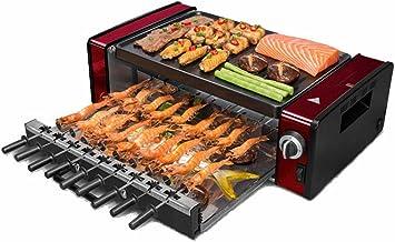 YFGQBCP 1200W électrique Raclette extérieur et intérieur, Smokeless Grill avec amovible facile à nettoyer la plaque à revê...
