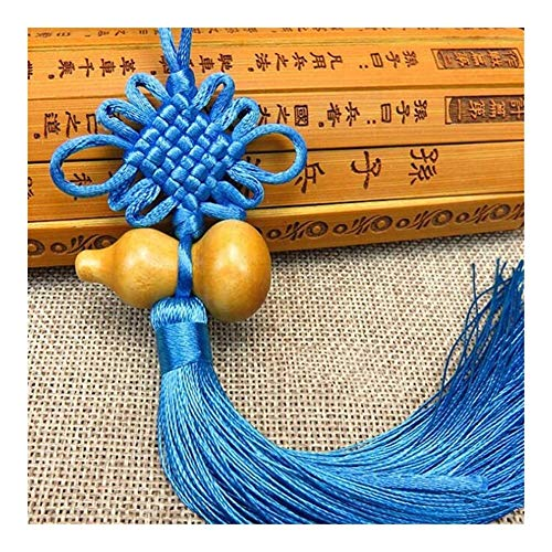 Accesorios 1pc Encanto Afortunado Nudo Chino Feng Shui Calabaza Colgante decoración del Coche de Inicio Regalo (Color Name : Blue)