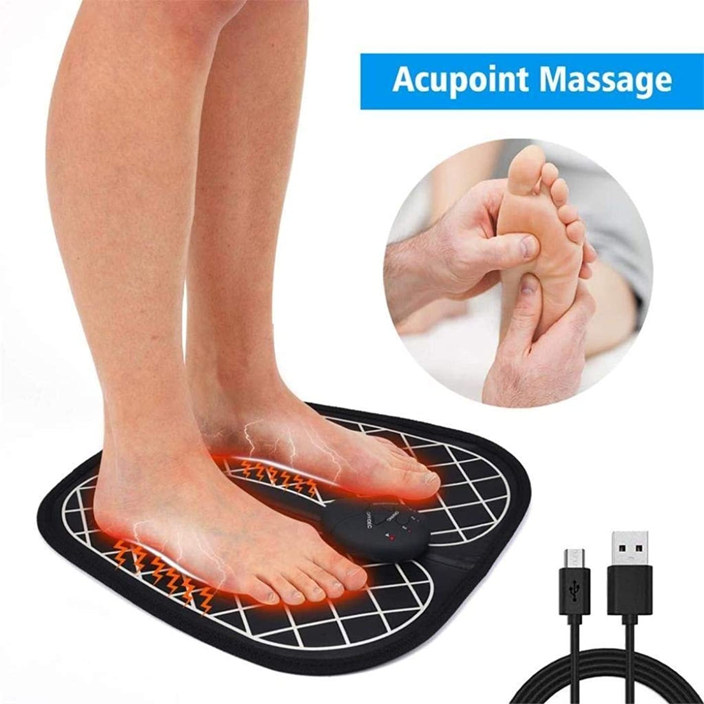批判的ゆりドナウ川フットマッサージャー-インテリジェントなフットマッサージパッド、筋肉をリラックスさせ、痛みを和らげ、持ち運びが簡単な自動フット振動マッサージ機