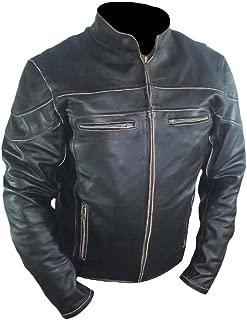 Men's Fashion Real Leather Vintage Style Biker Jacket