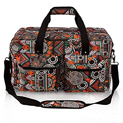 Travel Duffle Weekender Bag Canvas Large Zippers Gym Bag with Shoe Compartment for Sport,Overnight or Business Trip