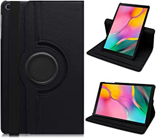 Samsung Galaxy Tab A 10.1 2019 Case, DETUOSI [Corner Protection] Multi-Angle Viewing 360 Degree Rotating Stand Cover for Samsung Galaxy Tab A 10.1 inch Tablet (SM-T510 & T515 /2019 Release),Black