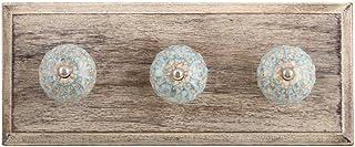 Indianshelf Crochet mural fait à la main en bois craquelé antirouille pour suspendre des vêtements, des clés ou des clés