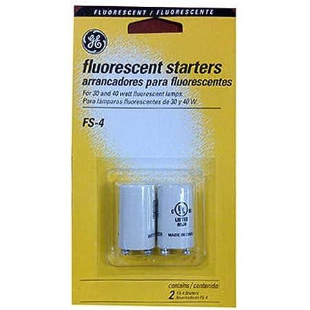 G E LIGHTING 64819 GE FS-4-C/TP Fluorescent Starter, 2-Pack