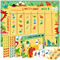 Potty Training Chart for Toddlers – Dinosaur Design - Sticker Chart, 4 Week Reward Chart, Certificate, Instruction Booklet and More – for Boys and Girls from Athena Futures Inc.