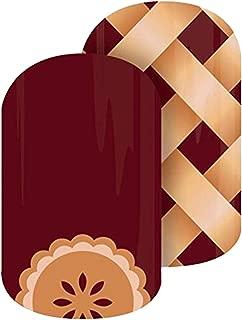 Sweet As Pie - Jamberry Nail Wraps - Full Sheet - Pie Lattice - Thanksgiving Christmas Holiday Exclusive