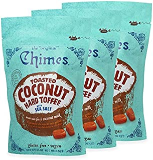 Chimes Toasted Coconut Toffee with Sea Salt Candy, Pack of 3 - 3.5 Ounce each