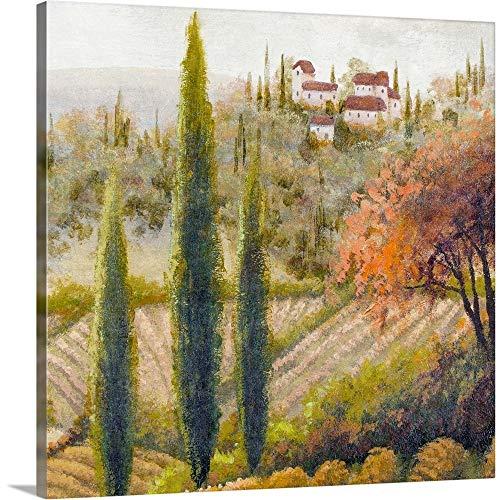 "Tuscany Vineyard II Canvas Wall Art Print, 16""x16""x1.25"""