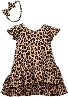 Bonnie Jean Baby Girl's Cheetah Animal Print Dress with Headband