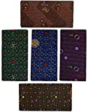 Dhrona COTTON Men's Printed Lungi - 5 Piece (2 meter) (100% Pure Cotton) (Export Quality...