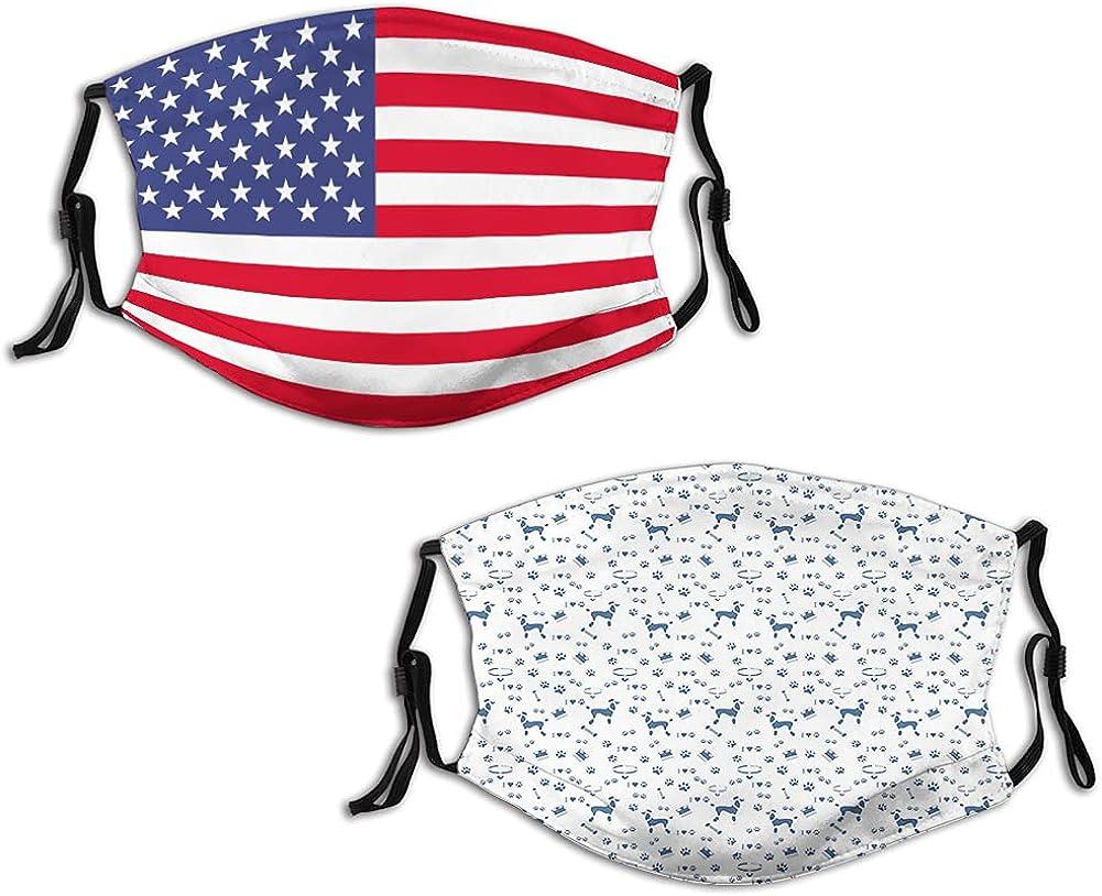 2 PCS Dustproof Windproof Face Mask,Reusable,Washable Cloth,Face Cover,Cover for Dust Men Women