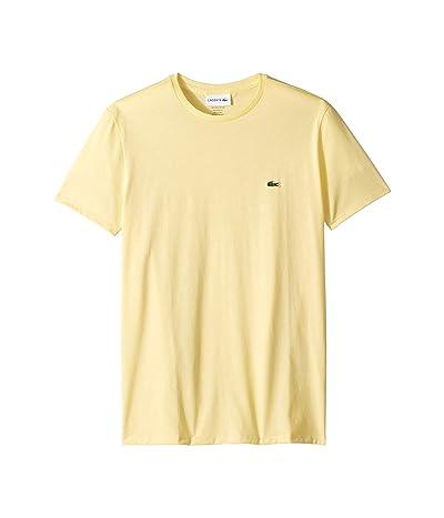 Lacoste Short Sleeve Pima Crew Neck Tee (Napolitan Yellow) Men