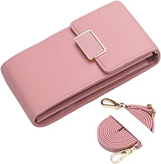 bulingbulingseason Solid Color PU Crossbody Bag Mini Sling Wallet Phone Pack Shoulder Bags Card Holder Coin Purse