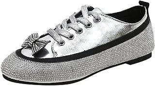 ◆◇ HebeTop◇◆ Bow Platform Slip on – Trendy Flatform Shoes - Comfortable Closed Toe Sneakers