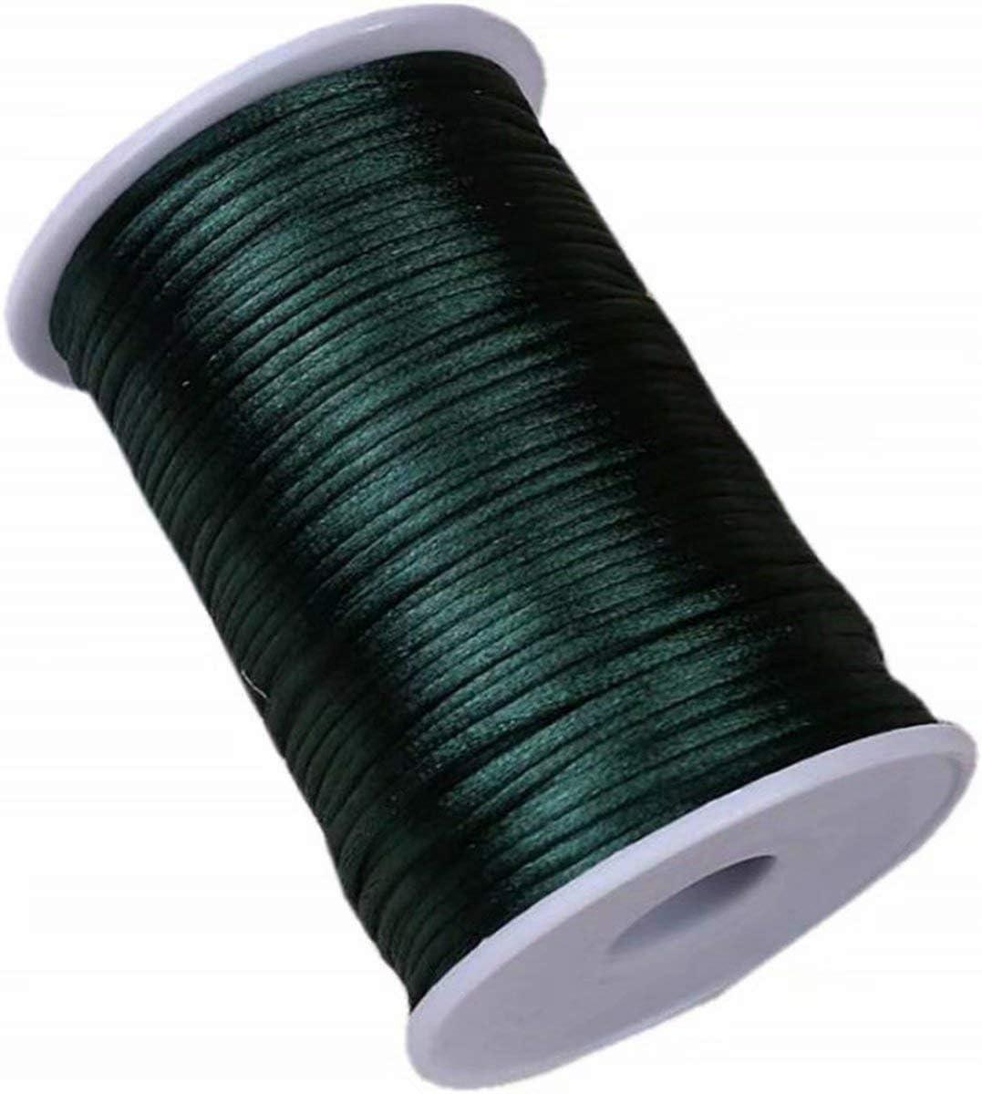 Nylon Satin Trim Cord for Necklace Shoelaces DIY Making Vivianbuy Brick 2.5mm Dia Satin Cord 109 Yard Rattail Silk Cord
