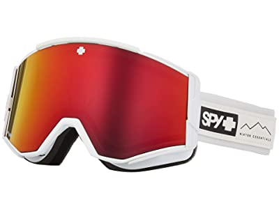Spy Optic Ace (Essential White Happy Gray Green w/ Red Spectra+Happy Yellow) Goggles