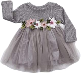 9480c1fc477 Mornbaby Toddler Kids Baby Girls Knitted Tulle Cap Tutu Dresses Jersey Dress  Outfit