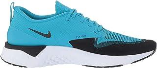 Men's Odyssey React 2 Flyknit Running Shoe (9, Blue Lagoon/Black/White)
