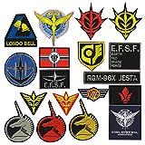 OYSTERGBOY 18pcs Gundam E.F.S.F./Londo Bell/Principality of Zeon Flag/Earth Federation Forcesicon logo Patch