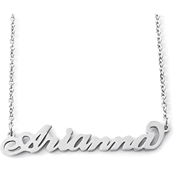 Silver Tone Zacria Riley Name Necklace