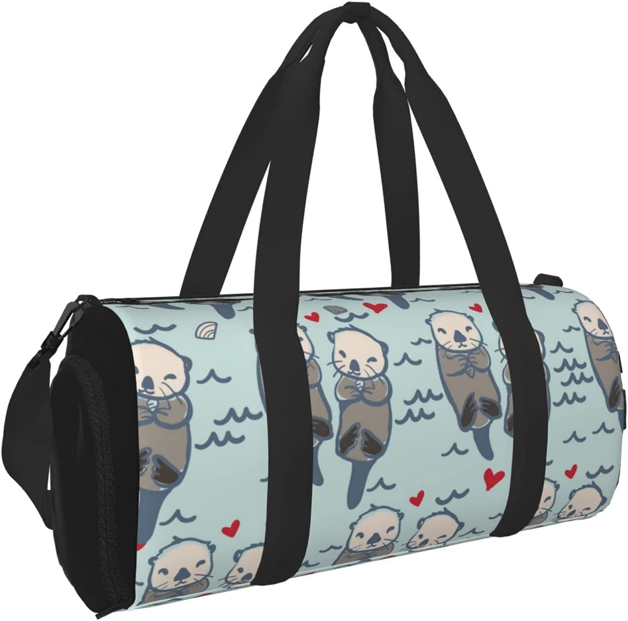 depot Timeergy Super sale Sea Otter Pattern Gym Bag Duffel Travel L Bags Carry On