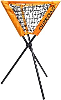 Outroad Practice Ball Caddy Holder for Baseball Batting and Pitching, Portable Bucket of Softballs Training Equipment, Removable with Carry Bag (Orange)