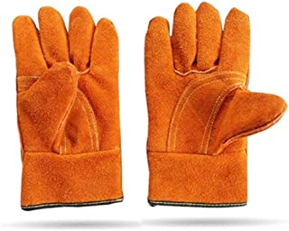 Safety Work Gloves Long Welding Gloves Wholesale Two Layers of Velvet Full Leather Labor Protection and Long Leather Welde...