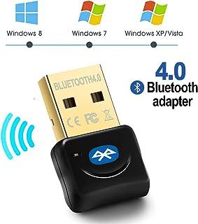 Maxesla Adaptador de Bluetooth 4.0 Bluetooth USB PC Bluetooth Transmisor y Receptor para PC con Windows XP/7/8/10/Vista, Plug and Play Compatible con Auriculares, Altavoces, Teclados, Ratónes Negro
