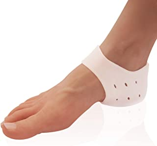 Dr. Frederick's Original Gel Heel Protectors - 2 Pieces - Heel Guards - Heel Spur Relief - Cracked Heels - Plantar Fasciitis - Heel Booties & Pads