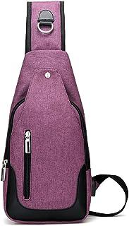 RANRANHOME Sling bröstväska, mångsidig lätt bröstväskor, dagväska för utomhussport, vattentät bröstryggsäck, bröstväska me...