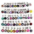 Surgical Steel Tongue Ring Logo Barbell Bars 14 Gauge Body Piercing Jewelry Lot 30-50pcs