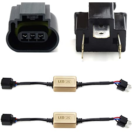 5202 2504 PSX24W To Deutsch DTP LED Fog Driving Light Canbus Canceller Decoders