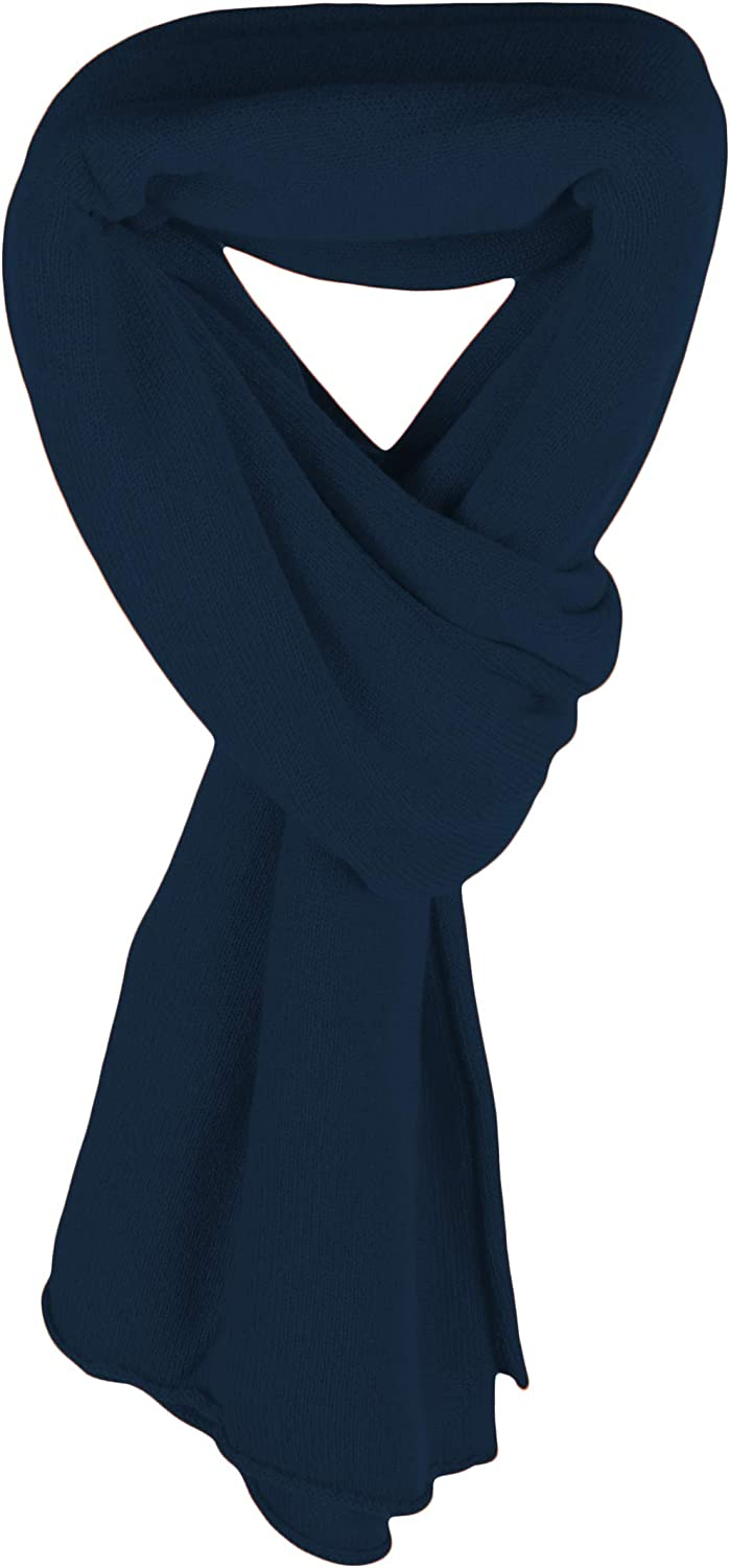 Love Cashmere Women's 100% Cashmere Wrap Scarf - Navy Blue - hand made in Scotland