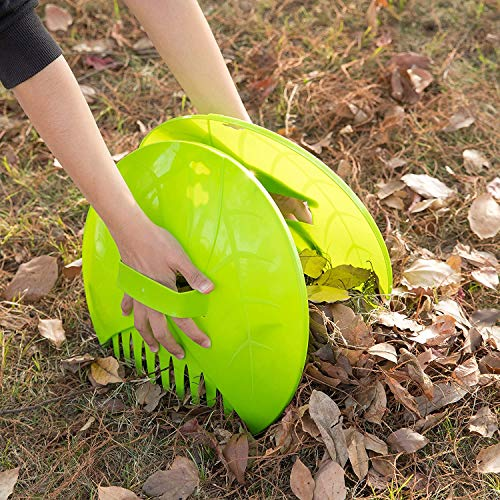 Gardenised Pair of Leaf Scoops, Hand Rakes for Lawn and Garden Cleanup (QI003286)