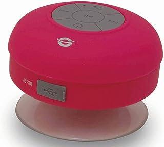 Conceptronic CSPKBTWPSUCP 3 W Rojo - Altavoces portátiles (3 W, 100-20000 Hz, Inalámbrico, Micro-USB B, Rojo, Esférico)