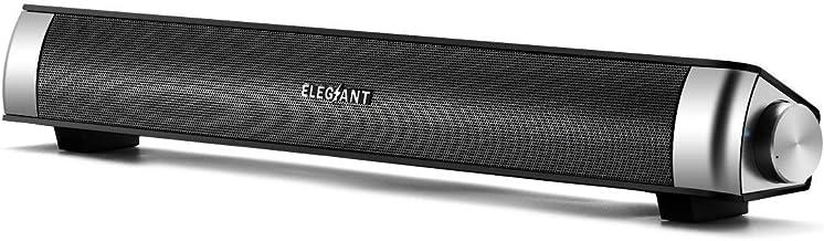 ELEGIANT Altavoz PC Barra de Sonido USB Sonido Estéreo Portátil Elegante Moderno Ligero para Música para Ordenador Portátil MP3 MP4 MDP Walk Man para Fiesta Al Aire Libre Regalo para Amigos