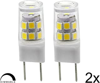 G8 LED Bulb, 2.5 W, 20W Halogen Equivalent, 200LM, Natural Daylight White 6000k, Under Counter Kitchen Lighting, 2 Pack
