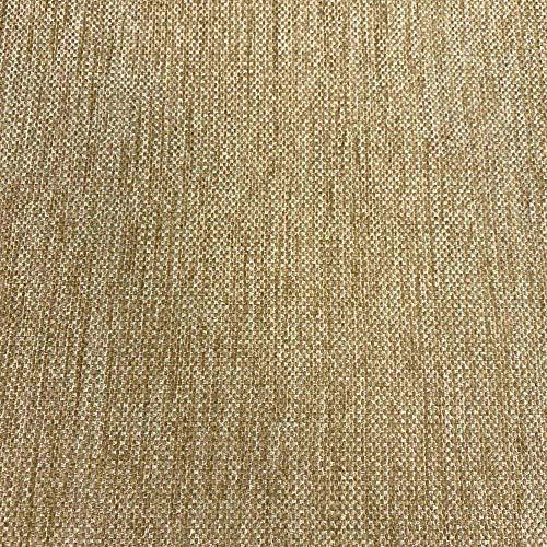 Kt KILOtela Tela de tapicería Lisa - Chenilla de Doble Cara - Tacto Suave Aterciopelado - Muy Resistente - Retal de 100 cm Largo x 280 cm Alto   Marrón Arena