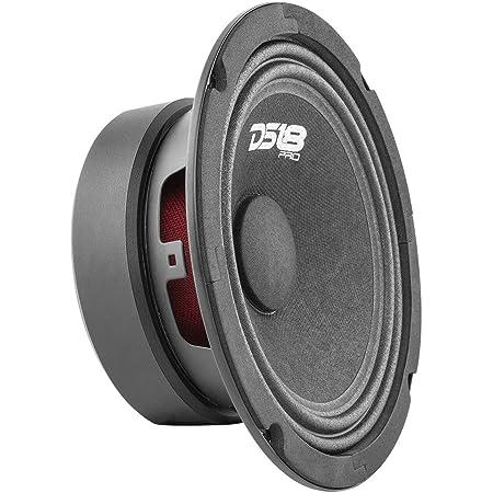 "DS18 PRO-GM10.4 Loudspeaker - 10"", Midrange, Red Aluminum Bullet, 660W Max, 4 Ohms,2"" Kapton VC Premium Quality Audio Door Speakers for Car or Truck Stereo Sound System (1 Speaker)"