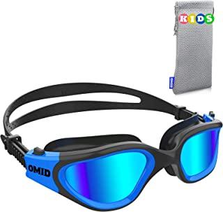 Kids Swim Goggles, OMID Comfortable Polarized Anti-Fog Swimming Goggles Age 6-14